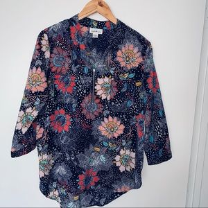 Jaclyn Smith Collection Floral blouse size L.